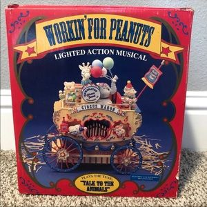 Vintage Enesco Workin' For Peanuts Lighted